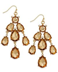 INC International Concepts | Metallic Gold-tone Topaz Chandelier Drop Earrings | Lyst