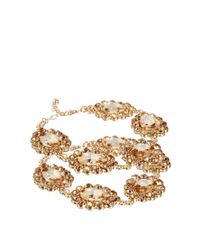ASOS - Metallic Jewel Anklets - Lyst