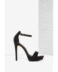 Lipstik Shoes | Nadine Vegan Leather Platform - Black | Lyst