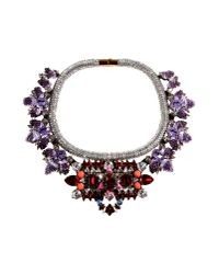 Shourouk | Purple Necklace | Lyst