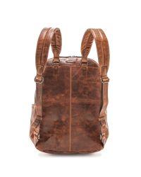 Frye - Brown Logan Backpack - Cognac - Lyst