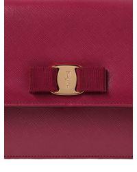 Ferragamo | Red Large Ginny Saffiano Leather Bag | Lyst