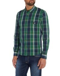 Duck and Cover | Green Jobson Long Sleeve Large Check Shirt for Men | Lyst