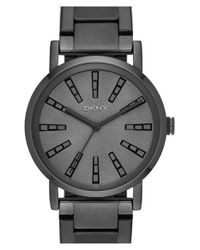 DKNY | Black 'soho' Round Bracelet Watch | Lyst