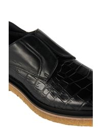 HUGO | Black Leather Loafers: 'cassia' | Lyst