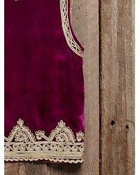 Free People - Womens Vintage Velvet Embroidered Vest - Lyst