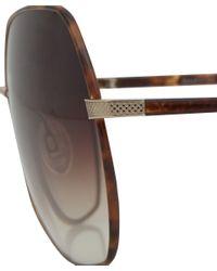 Barton Perreira | Brown Tortoiseshell Yadiell Oversized Sunglasses for Men | Lyst