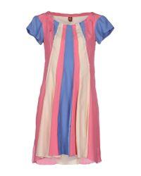 Dondup - Pink Short Dress - Lyst