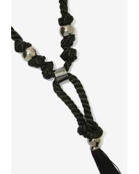 Nasty Gal | Black Magic Tassel Collar Necklace | Lyst