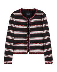 Boutique Moschino Black Striped Cotton Blend Jacket