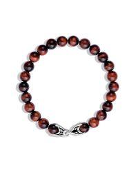 David Yurman | Spiritual Beads Bracelet With Red Tiger's Eye for Men | Lyst