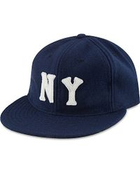 Ebbets Field Flannels Blue New York Black Yankees 1936 Ballcap for men