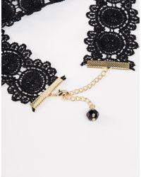 ASOS Black Victoriana Lace Choker Necklace