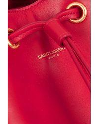 Saint Laurent - Red Emmanuelle Medium Leather Shoulder Bag - Lyst