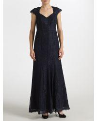 John Lewis Blue Perla Lace Maxi Dress