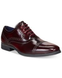 Cole Haan - Red Montgomery Cap Toe Oxfords for Men - Lyst