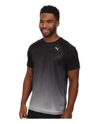 PUMA | Black Ignite Short Sleeve Tee for Men | Lyst