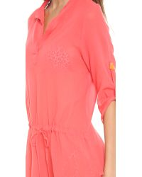 Eberjey Pink Summer Of Love Parker Cover Up Sunset Glow