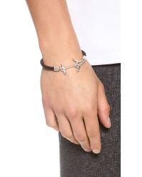 Eddie Borgo - Brown Ship Weight Leather Bracelet for Men - Lyst