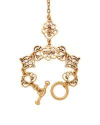 Oscar de la Renta - Metallic Bracelet with Ring Attached - Lyst