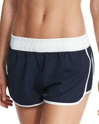 Seafolly - Blue Hit Repeat Coverup Shorts - Lyst