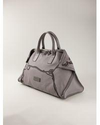 Alexander McQueen - Gray De Manta Printed Holdall Bag for Men - Lyst