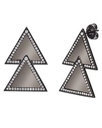 Alexa Leigh | Black Large Double Triangle Earring | Lyst