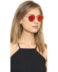 Ray-Ban Orange Mirrrored Polarized Icons Sunglasses - Matte Gold/Green Mirror Polar