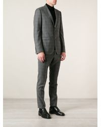 Gucci Gray Checked Suit for men