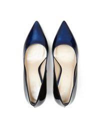 Karen Millen - Blue Ombre Patent Court - Lyst