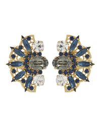 Anton Heunis - Metallic 22 Carat Gold Plated Swarovski Crystal Earrings - Lyst