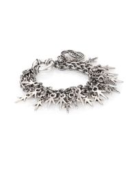 Giles & Brother | Metallic Three-chain Crystal Charm Bracelet | Lyst