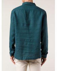 Orlebar Brown Green 'Ridley' Shirt for men