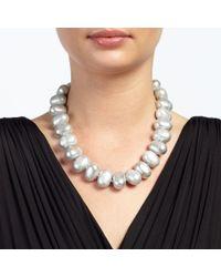 John Lewis - Metallic Oval Bead Necklace - Lyst