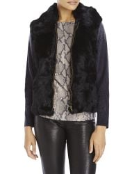 Surell | Black Real Long Hair Rabbit Fur Vest | Lyst