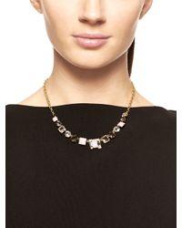 kate spade new york - Metallic Neapolitan Mini Necklace - Lyst