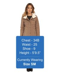 MICHAEL Michael Kors | Brown Quilted W/ Sherpa | Lyst