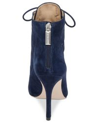 BCBGeneration Blue Belini Suede Lace-up Booties