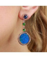 Wendy Yue | Blue Opal Drop Earrings | Lyst