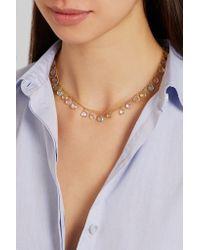 Marie-hélène De Taillac   Metallic 22-karat Gold Multi-stone Necklace   Lyst