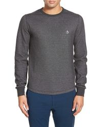Original Penguin | Gray Reversible Waffle Knit Long Sleeve Shirt for Men | Lyst