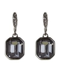 Givenchy - Black Hematite-Tone Square-Shaped Earrings - Lyst