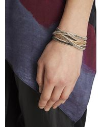 Vita Fede | Natural Mushroom Chain Embellished Multi-Wrap Bracelet | Lyst
