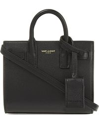 Saint Laurent | Black Toy Sac De Jour Leather Tote | Lyst