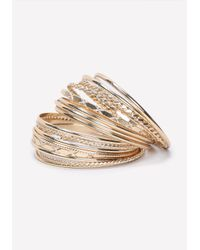 Bebe | Metallic Textured Metal Bangle Set | Lyst
