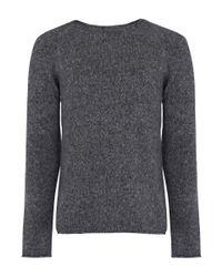 Nudie Jeans | Gray Grey Vladimir Alpaca Melange Knit for Men | Lyst