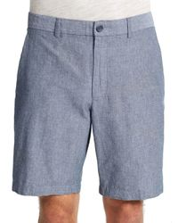Perry Ellis | Blue Cotton Shorts for Men | Lyst