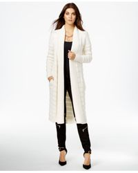 Guess | White Florence Long Shawl-collar Cardigan | Lyst