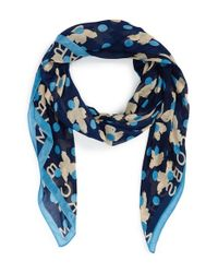 Marc By Marc Jacobs Blue 'Dotty Flora' Scarf