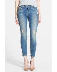 James Jeans - Blue 'twiggy' Ankle Skinny Jeans - Lyst